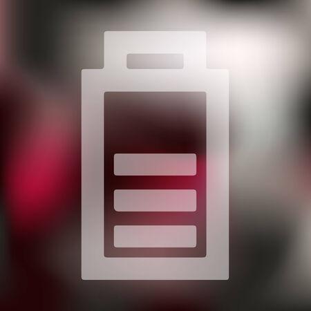 lading: Laad de batterij-icoontje op onscherpe achtergrond