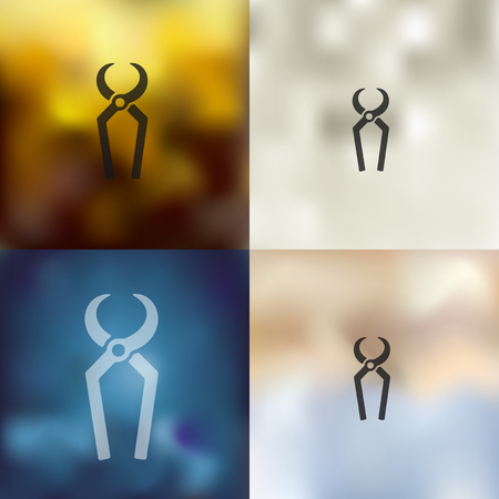 nippers: nippers icon on blurred background