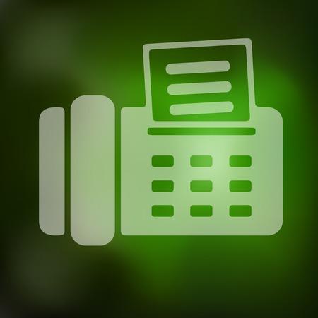 icono fax: icono del fax en el fondo borroso