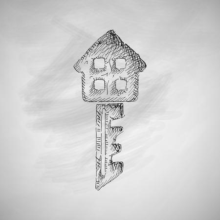 porch: key icon