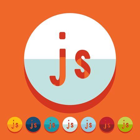 js: Flat design. js Illustration