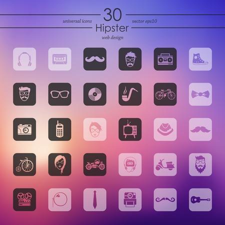 admirer: Set of hipster icons Illustration