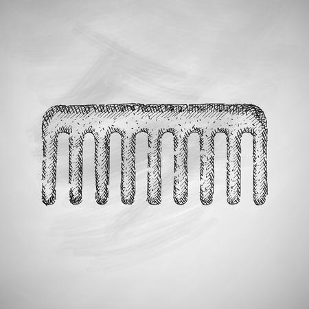 combing: comb icon Illustration