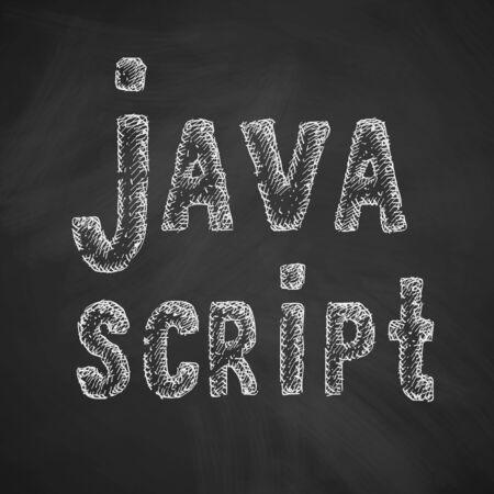 java script: java script icon Illustration