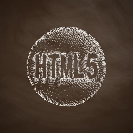 html5: HTML5 icon Illustration