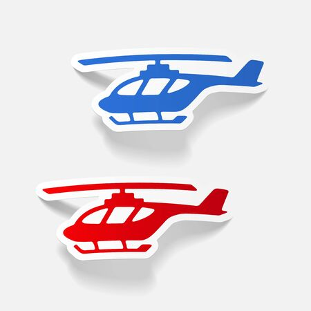 rescue helicopter: realistic design element: helicopter Illustration