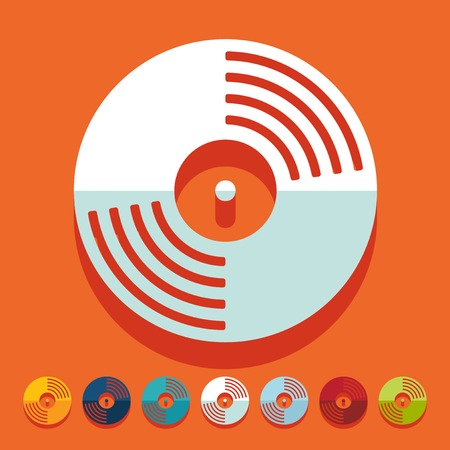 chanson: Flat design: vinyl record Illustration