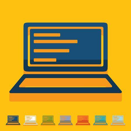 sociability: Flat design. laptop
