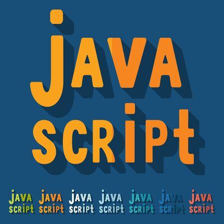 java script: Flat design. java script