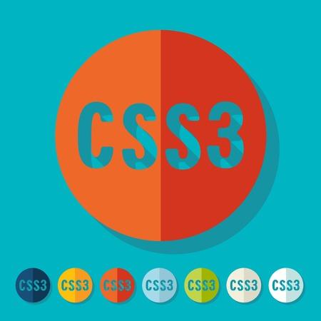 css3: Flat design. CSS3