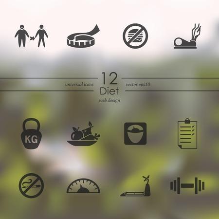 Set of diet icons Illustration