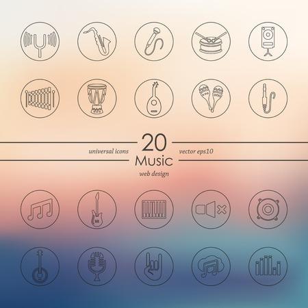 coro: Conjunto de iconos de la m�sica