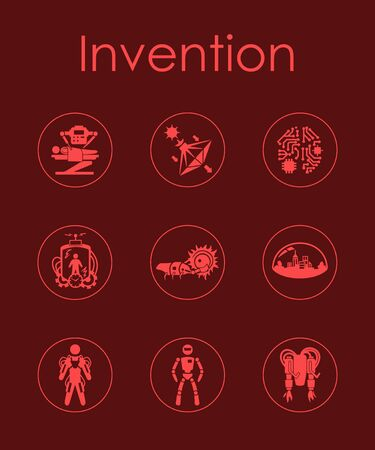 incarnation: Set of invention simple icons