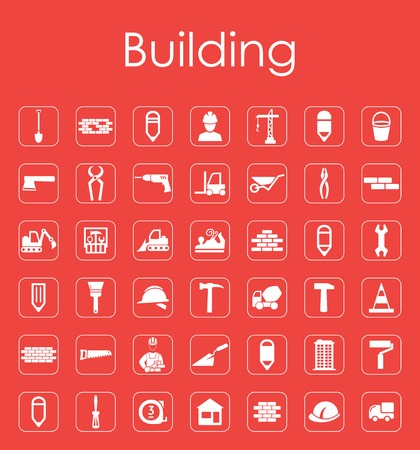 foundation: Set of building simple icons