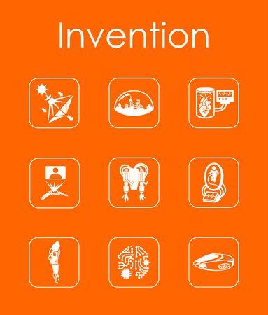 progressive art: Set of invention simple icons