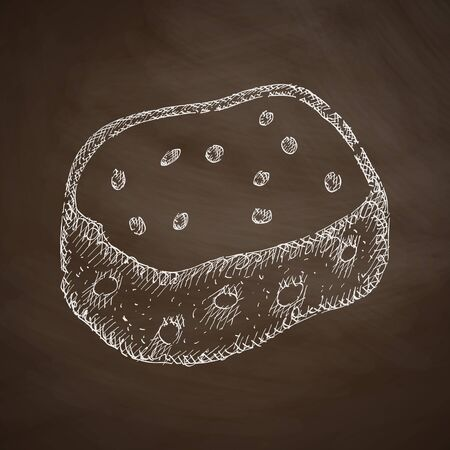 bast: sponge icon Illustration