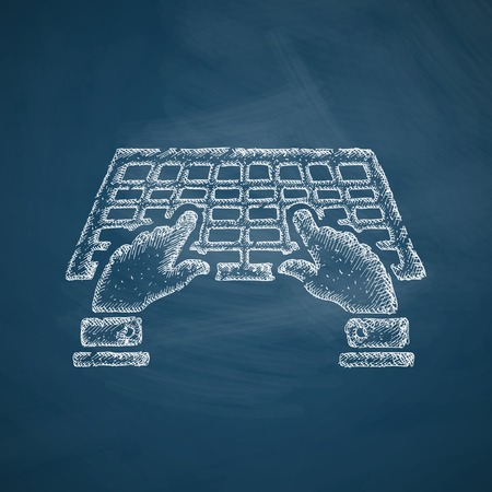 reckoning: using the keyboard icon Illustration