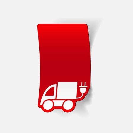 eco car: realistic design element: eco car Stock Illustratie