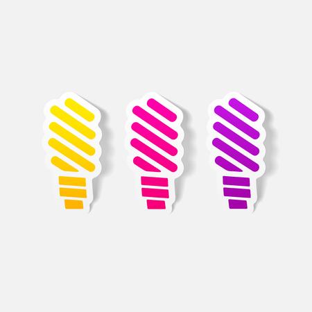 ecologist: realistic design element: fluorescent light bulb Illustration