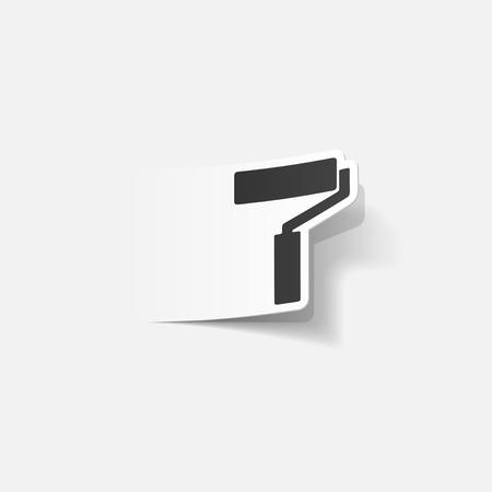 farbrolle: realistischen Design-Element: Farbroller