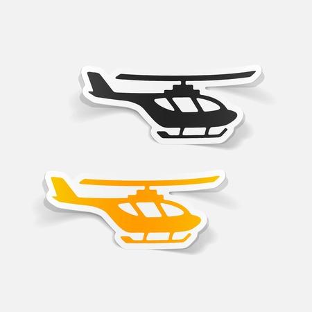 realistic design element: helicopter Stock Illustratie