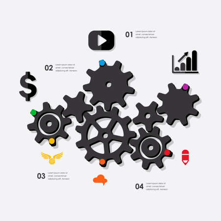 marketing: marketing infographic Illustration
