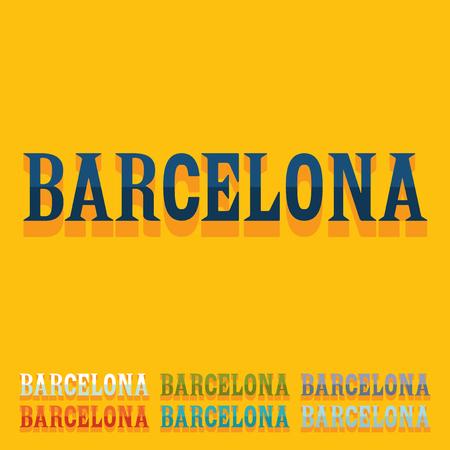 barcelona: Flat design. Barcelona