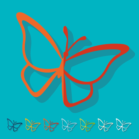 petite: Flat design. butterfly Illustration