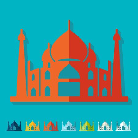 Flat design. arabic palace Vector