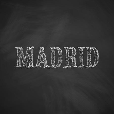 madrid: Madrid icon Illustration