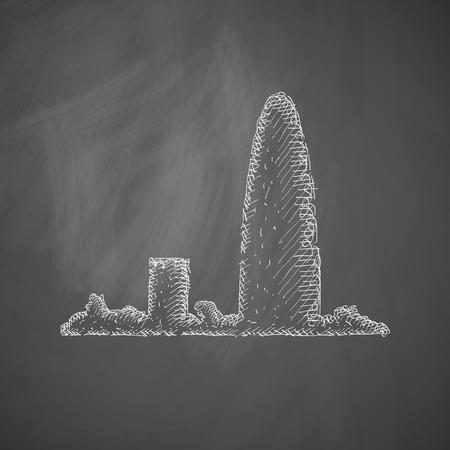 Barcelona skyline icon Vector