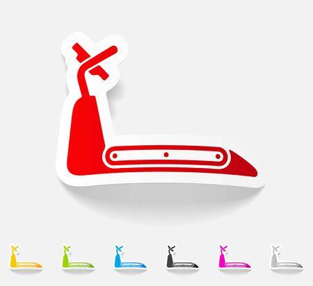scamper: realistic design element. treadmill