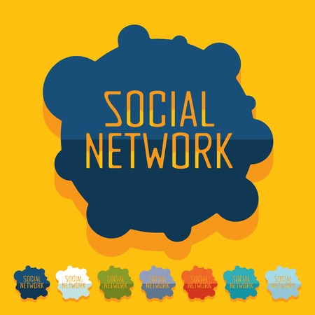 Flat design. social network Vector