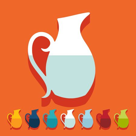 jug: Flat design. jug