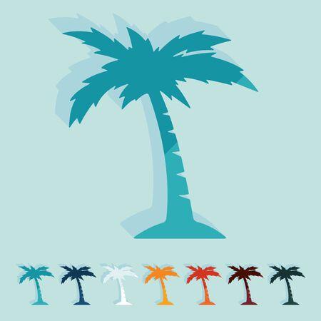 subtropics: Flat design. palm