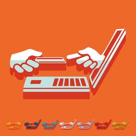 liabilities: Flat design. online payment Illustration