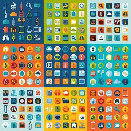 biotechnology: Set of medicine icons