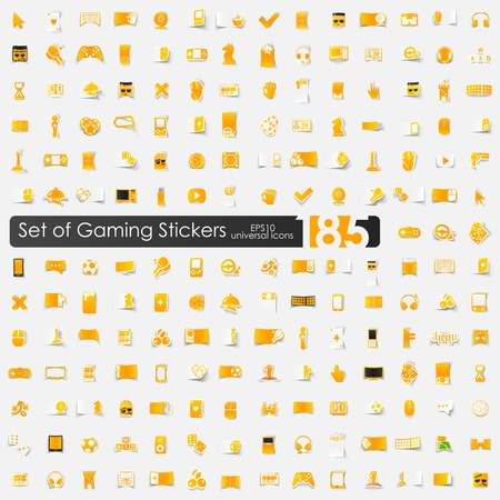 Set of game stickers Vector