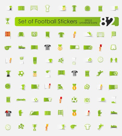 offside: Set of football stickers