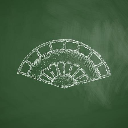air flow: folding fan icon Illustration