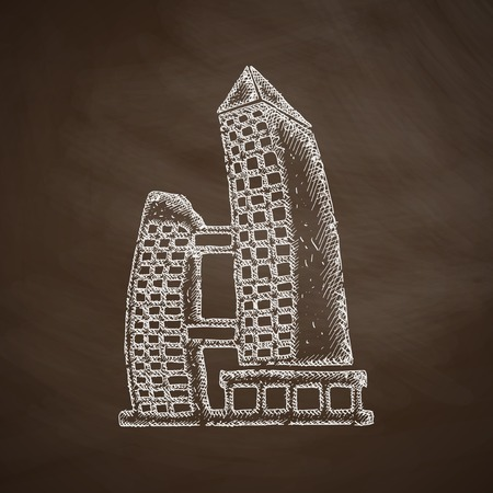 singapore building icon Vector