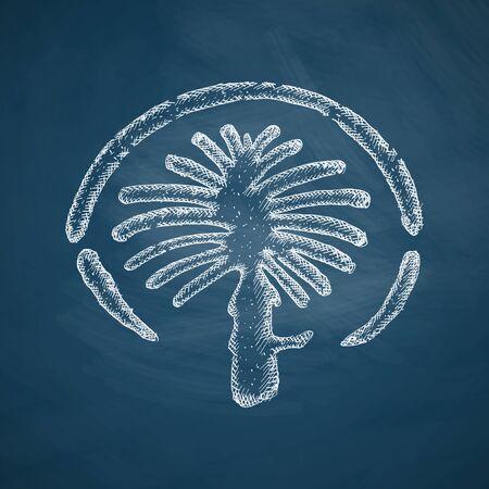 artificially: palm Jumeirah icon