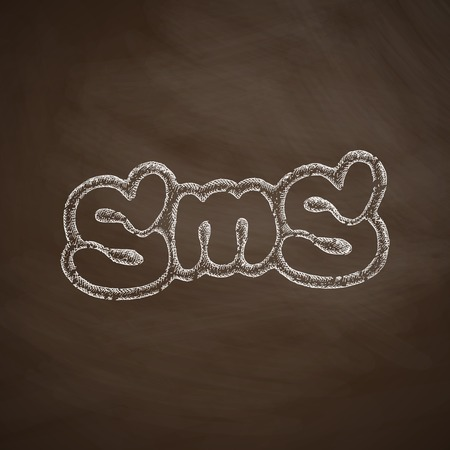 short message service: sms message icon Illustration