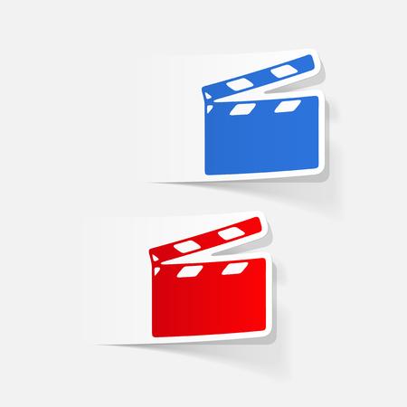 clapper: realistic design element: clapper cinema