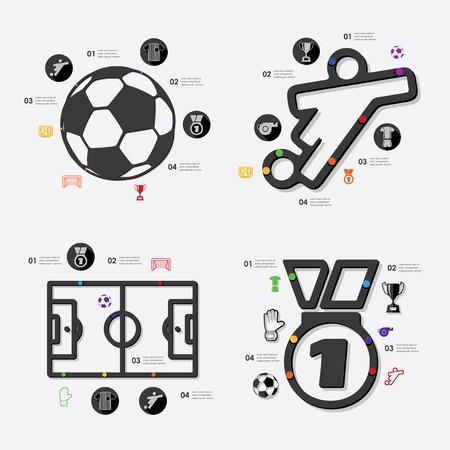 sideline: infograf�a f�tbol Vectores