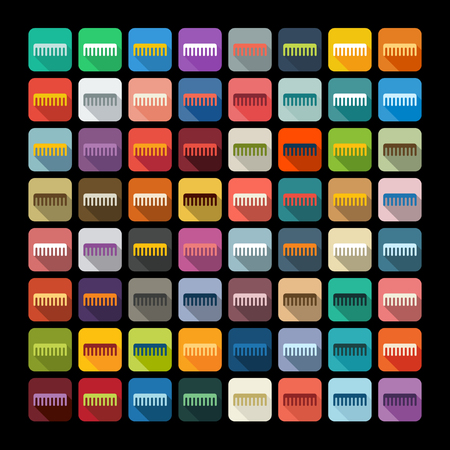 combing: Flat design: comb Illustration
