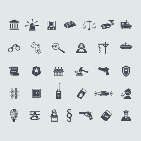 questioning: Set der Kriminalit�t Symbole