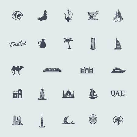 Conjunto de Emiratos Árabes Unidos iconos