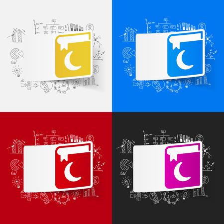 Drawing business formulas: koran Vector