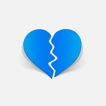 heart failure: realistic design element: broken heart